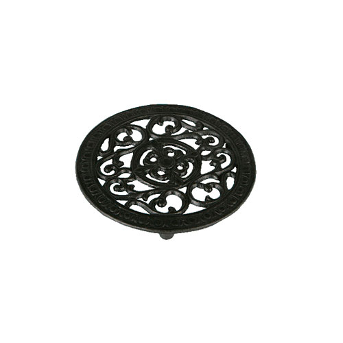 ROUND TRIVET ANTIQUE BLACK