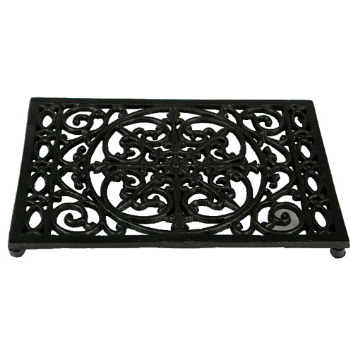 RECTANGLE TRIVET ANTIQUE BLACK