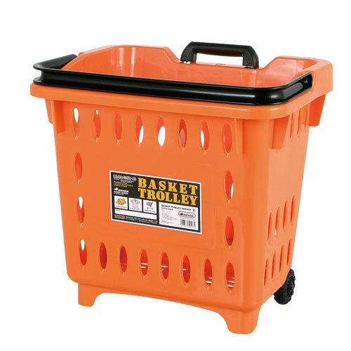 BASKET TROLLEY  ORANGE