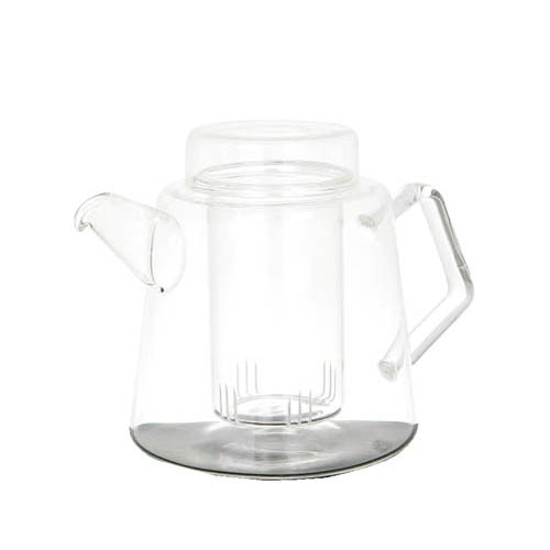 "GLASS TEA POT ""TEA for WHO"""