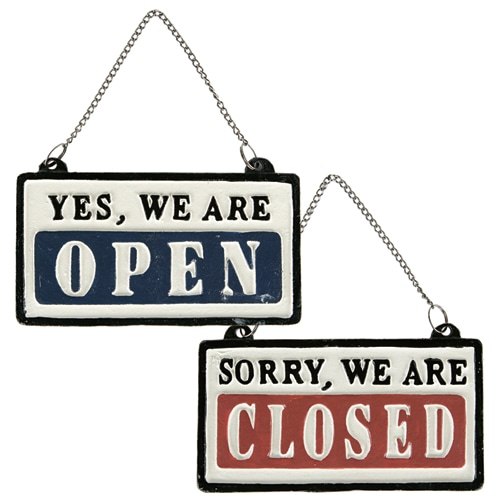 "REVERSIBLE SIGN ""OPEN-CLOSED"""