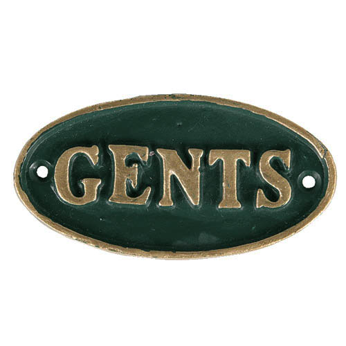 "OVAL SIGN GN ""GENTS"""