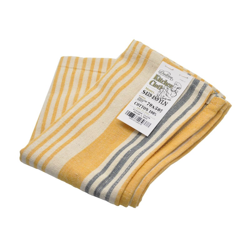 KITCHEN CLOTH YELLOW/NAVY