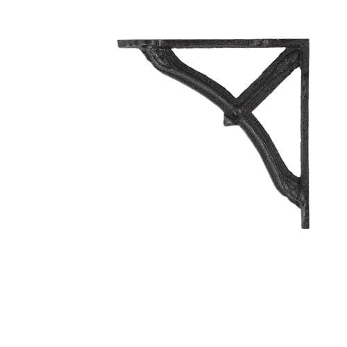 BOW BRACKET 12 ANTIQUE BLACK