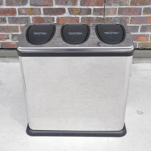 TRIPLE RUBBISH BIN
