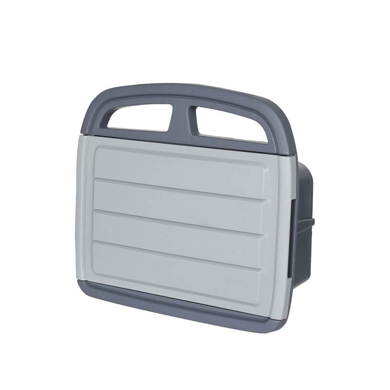 HOSE HANGER WITH STORAGE BIN GRAY