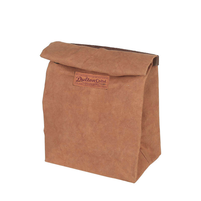 WAX CANVAS LUNCH BAG CAMEL